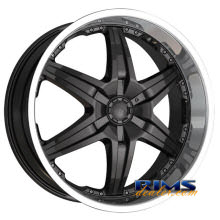 Dip Rims - WICKED-[D39] - machined w/ black