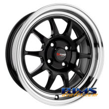 Drag Wheels - DR16 - machined w/ black