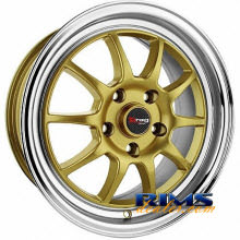 Drag Wheels - DR16 - machined w/ gold