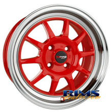 Drag Wheels - DR16 - machined w/ red
