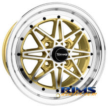 Drag Wheels - DR20 - gold w/ machined