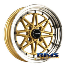 Drag Wheels - DR20 - machined w/ gold