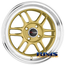 Drag Wheels - DR21 - machined w/ gold