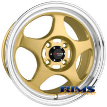 Drag Wheels - DR23 - machined w/ gold