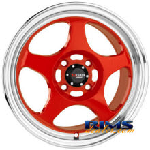 Drag Wheels - DR23 - machined w/ red