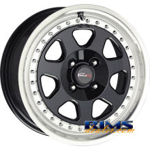 Drag Wheels - DR27 - machined w/ black