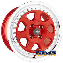 Drag Wheels - DR27 - machined w/ red