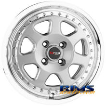 Drag Wheels - DR27 - machined w/ silver