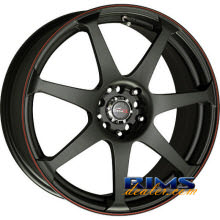 Drag Wheels - DR33 - black w/ red lip