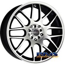 Drag Wheels - DR34 - black flat w/ machined