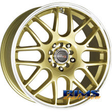 Drag Wheels - DR34 - machined w/ gold