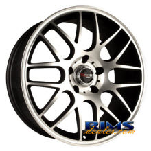Drag Wheels - DR37 - black flat w/ machined