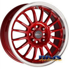 Drag Wheels - DR41 - machined w/ red