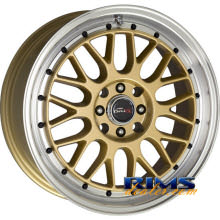 Drag Wheels - DR44 - machined w/ gold