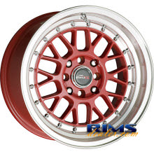 Drag Wheels - DR44 - machined w/ red