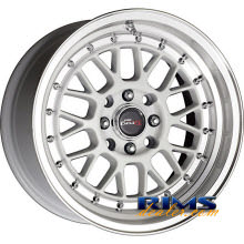 Drag Wheels - DR44 - machined w/ white