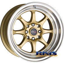 Drag Wheels - DR54 - machined w/ gold