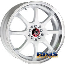 Drag Wheels - DR55 - machined w/ white