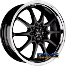 Drag Wheels - DR9 - machined w/ black