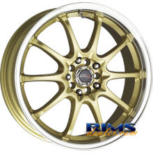 Drag Wheels - DR9 - machined w/ gold