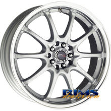 Drag Wheels - DR9 - machined w/ silver