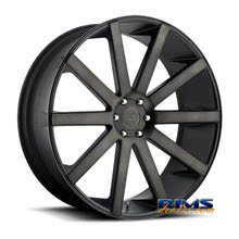 Dub - S121 - Shot Calla - black flat w/ machined