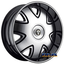 Dub - S138 - Bandito - black flat w/ machined