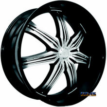 EFFEN WHEELS - 412 HURRICANE - CHR CAP - black gloss w/ machined