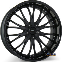 ACE ALLOY - EMINENCE D709 - black flat w/ black gloss lip