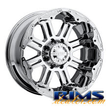 GEAR ALLOY OFF-ROAD - 722C - Full Throttle (8-Lug) - chrome