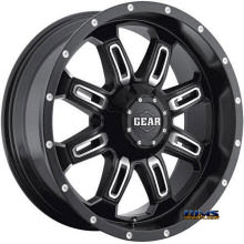 GEAR ALLOY OFF-ROAD - 725MB DOMINATOR  - Machined w/ Black