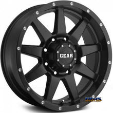 GEAR ALLOY OFF-ROAD - 728B OVERDRIVE  - Black Flat