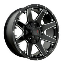 HAVOK WHEELS OFF-ROAD - H102 - Milled - Black Flat W/ Machined