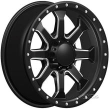 HAVOK WHEELS OFF-ROAD - H105 - Milled - BLACK GLOSS W/ MACHINED