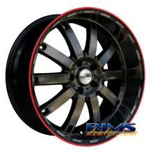 HD Wheels - Autobahn - black w/ stripe