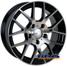 HD Wheels - MSB - machined w/ black
