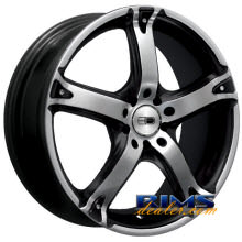 HD Wheels - Smoke - machined w/ black