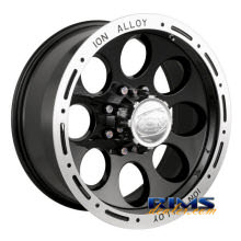 Ion Alloy Wheels - 174 off-road - machined w/ black