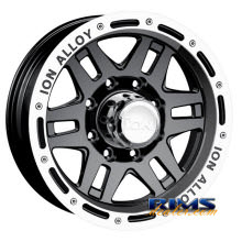 Ion Alloy Wheels - 133 off-road - machined w/ black