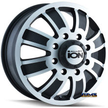 Ion Alloy Wheels - 166 off-road - machined w/ black