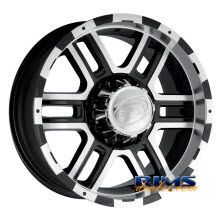Ion Alloy Wheels - 179 off-road - machined w/ black