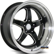 KATANA WHEELS - K149 - Machined w/ Black Machined Lip