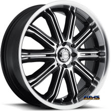 KATANA WHEELS - KR11 - Machined w/ Black