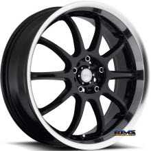 KATANA WHEELS - KSD - Machined w/ Black