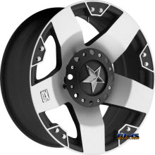 KMC XD Off-Road - XD775 Rockstar - Machined w/ Black