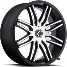 Kraze Wheels - Kraze-141 Cray - Machined w/ Black