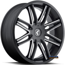 Kraze Wheels - Kraze-141 Cray - black flat w/ machined