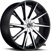 Kraze Wheels - Kraze-144 Swagg - Machined w/ Black