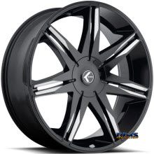Kraze Wheels - Kraze-143 Epic - black flat w/ machined