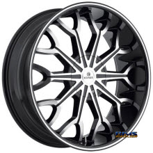 Kraze Wheels - Kraze-1012 Frenzy - Machined w/ Black